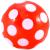Piros pöttyös gumilabda - 22 cm