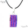 Ragyogj.hu - Swarovski Shamballa nyaklánc négyzet alakú medállal- rózsaszín-kék - Swarovski kristályos