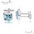Ragyogj.hu - Swarovski Szikrázó mandzsettagomb - világoskék - Swarovski kristályos