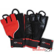 BioTech USA Csuklószorítós kesztyű (piros/ fekete) edzőkesztyű