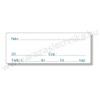 Gyógyszertári címke 25×50mm BELSŐLEG kék szignatúra címke +azonosító szöveg