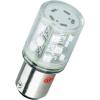 Conrad BA 15d foglalatú LED jelzőlámpa 6 db szuperfényes LED-del piros 24 V DC/AC Barthelme 52160211