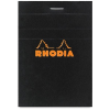 Clairefontaine Rhodia fekete jegyzetblokk  kockás 80lap  7 4x10 5cm