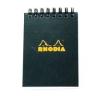 Clairefontaine Rhodia Classic fekete spirálblokk Mérete: 10 5x14 8cm vonalas