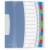 ESSELTE Előrendező, A4, 12 részes, műanyag, ESSELTE Vivida, áttetsző (E624030)