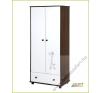 Klups Szafari/Zsiráf 2 ajtós szekrény törtfehér-dió kiságy, babaágy
