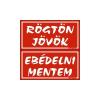 GUNGL DEKOR PIKTOGRAM RÖGTÖN J.-EBÉDELNI M. (KÉTOLD. TÁBLA) PIROS
