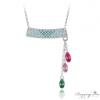 Ragyogj.hu - Swarovski Függő kristályok nyaklánc - színes - Swarovski kristályos