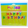 Gyertya, születésnapi, betűs, Happy birthday