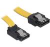 Cable SATA up/straight metal yellow 30cm kábel és adapter