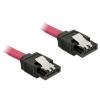 DELOCK Cable SATA 6 Gb/s straight/straight red 50c