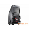"CoolerMaster K380 Black - RC-K380-KWN1 Black,3x5,25"",7x3,5"",ATX,1xUsb,Audio,Táp nélkül,209x445x479 mm ,3x2,5"",1x"