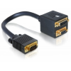 DELOCK Adapter VGA male to VGA + DVI 29 female