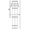 Tricox Alu/Alu tető átvezetés 100/150mm fekete