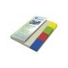 VICTORIA Jelölõcímke, mûanyag, 4x40 lap, 20x50 mm, VICTORIA, vegyes szín
