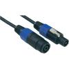Paccs Hangszóró hosszabbító kábel 10 m, SPK/SPK, fekete, Paccs