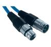 Paccs Mikrofonkábel 4 m (XLR dugó/alj), kék, Paccs mikrofon