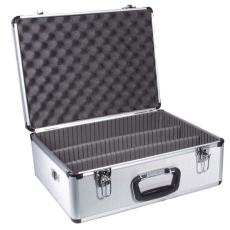 Dörr 305 V1 - ezüst Video alukoffer + Előmetszett szivacsbetét
