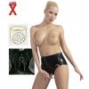 Latex fantázia alsó - fekete (XL)