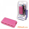 LogiLink USB 2.0 Hub 4-port with Power Supply Pink