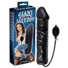 -- Gigantikus latexballon - fekete műpénisz, dildó