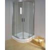 Ravak Rapier NRKCP4-100 Szatén+Transparent négyelemes negyedköríves toló rendszerű zuhanykabin