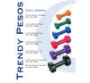 Trendy Műanyag bevonatú kézi súlyzó 2x3,0kg kézisúlyzó