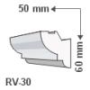 RV-30 - Rejtett világítás díszléc - oldalfal