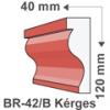 Kültéri díszléc BR-42/B - felületkezelt