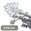 Siero karnis mattkróm Royal véggel, kétsoros, 120 cm