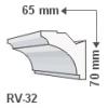 RV-32 - Rejtett világítás díszléc - oldalfal