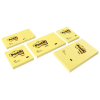 3M POSTIT Öntapadó jegyzettömb, 76x76 mm, 100 lap, , sárga
