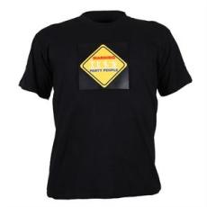 Summary LED rövid ujjú póló 3 színu Warning Party People, méret: XL