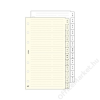 SATURNUS Kalendárium betét, telefonregiszter, S, SATURNUS, fehér (NKS315F)