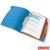 ESSELTE Előrendező, A4, 6 részes, műanyag, ESSELTE Vivida, áttetsző (E624029)