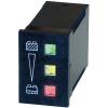 Bauser LED-es akku töltésjelző, akkufeszültség visszajelző 9-15V/DC 22x33mm Bauser 824