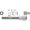 Hazet Hatlapú csavarhúzófej belső hatszögű csavarokhoz 8 mm, belső négyszög 12,5 mm (1/2), Hazet 986LG-8