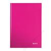 Leitz Beíró, A4, kockás, 80 lap, keményfedeles, lakkfényű, LEITZ Wow, rózsaszín (E46261023)