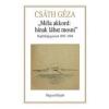 'MÉLA AKKORD: HÍNAK LÁBÁT MOSNI' /NAPLÓFELJEGYZÉSEK 1897-1904.