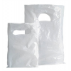 Piskótafüles tasak, fehér, 15x20 cm