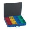 Alutec 23 részes alkatrésztároló doboz, 440 x 330 x 66 mm, 10550