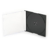 CD-tok, vékony, 1 lemez, fekete tálca, átlátszó