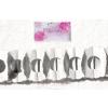 Girland, papír, virág alakú, fehér