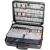 Bernstein Elektronikai szervizkoffer, üres, 460 x 170 x 350 mm, műanyag eloxált alu kerettel, Bernstein PC-Contact 6115
