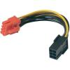 Akasa PCI-Express grafikus kártya csatlakozó kábel, 8 pólusú, 0,1 m, Akasa