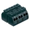 WAGO Szigetelt sorkapocsblokk 4 pólusú, 0,5 - 4 mm² 32A, fekete, WAGO 862-1503