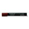STAEDTLER Alkoholos marker, 2 mm, kúpos, STAEDTLER Lumocolor 352, barna (TS3527)