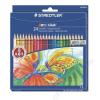 STAEDTLER Színes ceruza készlet, hatszögletű, STAEDTLER Noris Club, 24 különbözo szín TS144NC24