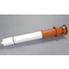 Saunier Duval füstgázkivezető tetőelem, L = 1200 mm vörös, 80/125 mm