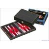 Klassic 601711 Backgammon 23 cm, fekete műbőr